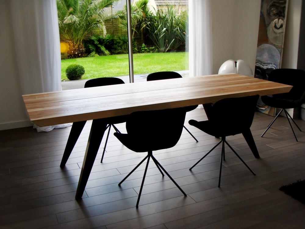 ARTMETA table amazone bois massif et metal avec allonges 6