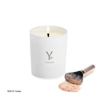 Yssia_Bougie_naturelle_parfumée_poudre_de_riz