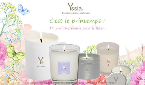 Yssia_Bougies_végétales_parfumées_fleuries_printemps